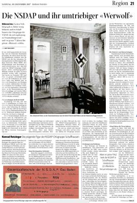 SN-Artikel NSDAP & Rotzinger (S. 1)