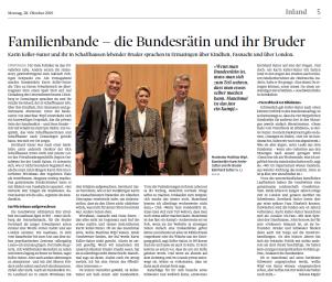 Artikel zu Lilienberg-Talk mit BR KKS & Beni Sutter( SN, 28.10.2019)